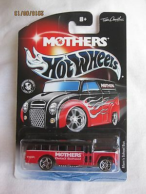 Hotwheels Rare 2003 Mothers Wax Series 2, S'Cool Bus  Mint On Card