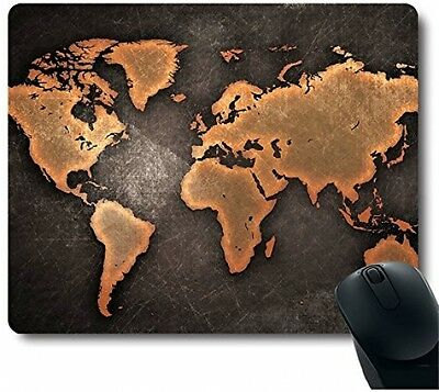 World Map Soft Large Mouse Pad Office Mat Laptop Computer PC Gaming Vintage