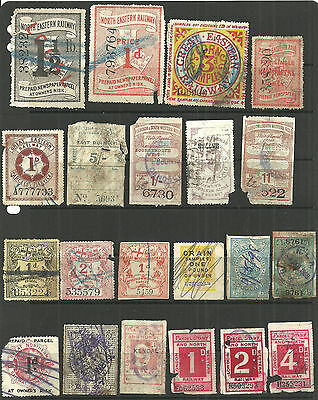 Selection 44 Different Great Britain Railway Letter Parcel/newspaper Stamps