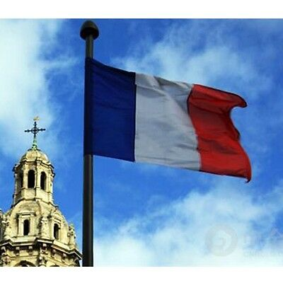 150*90CM France Flag Outdoor Banner Pennant French Tricolor Cockade Revolution