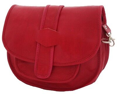 Sac sacoche besace bandoulière cuir neuf homme femme rouge