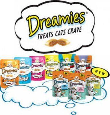 22 Packs of Mixed Dreamies, 14 Single Flavours and 8 Dreamies Mix Flavours 60g