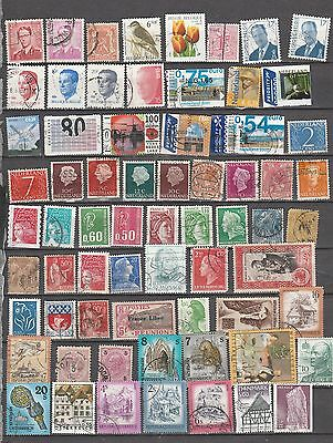 Mixed Western Europe, 67 Stamps All Different, Lot 1
