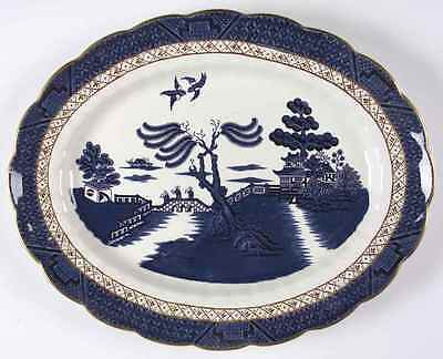 "Booths REAL OLD WILLOW BLUE 15 7/8"" Oval Serving Platter 6418591"