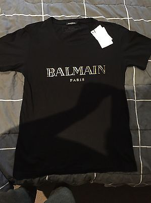 Balmain Mens T-Shirt Tee Size S 100% Authentic. New with tags