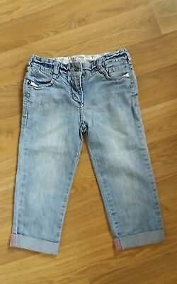 Fatface girls denim trousers jeans 3/4 8 years good condition
