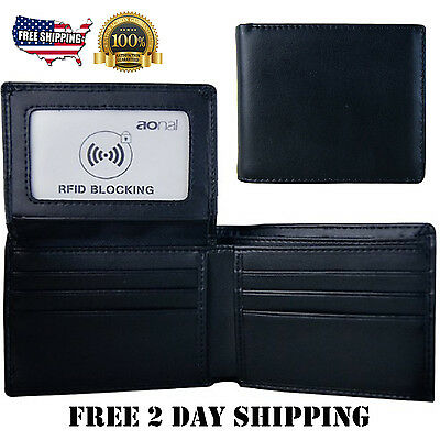 Men's Bifold Leather Wallet Multi Credit Card Holder Clutch Travel RFID Purse US