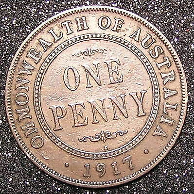 1-Coin from Australia   1917.  1 Penny.