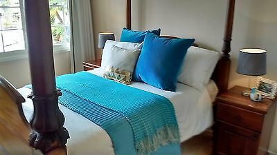 Antique 4 Poster Wooden Bed Double