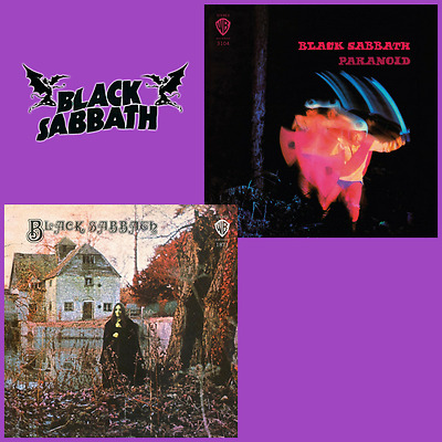 Black Sabbath Bundle - Black Sabbath / Paranoid - 2 x Colour Vinyl LP *NEW*