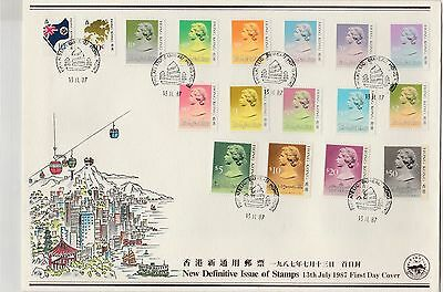 China Hong Kong 1987 QEII Definitive Stamp CPA FDC First Day Cover