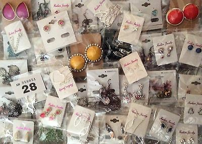 Job Lot (50 Pairs)New Jewellery Earrings Resale/Gifts/Fetes Etc