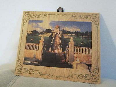 """FreeShip-Bahai Shrine of the Bab wooden plaque - """"the Eight Wonder of the World"""""""