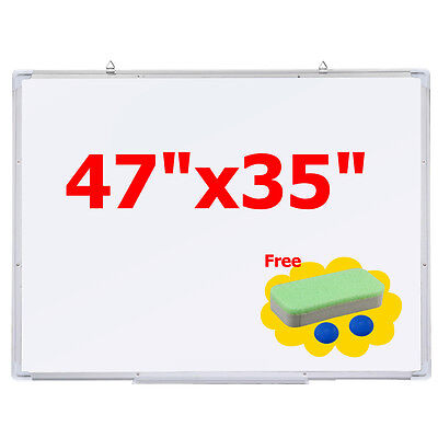 "47""x35"" Single Side Magnetic Writing Whiteboard Dry Erase Board Office New"