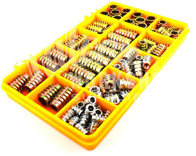 87 Assorted M4 M5 M6 M8 Hex Drive Screw In Type E Threaded Insert Bushing Kit