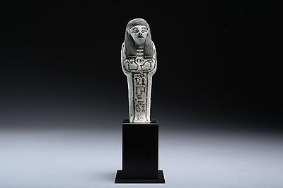 Ancient Egyptian Third Intermediate Period Faience Shabti for Kha-Em-Wese - 1069