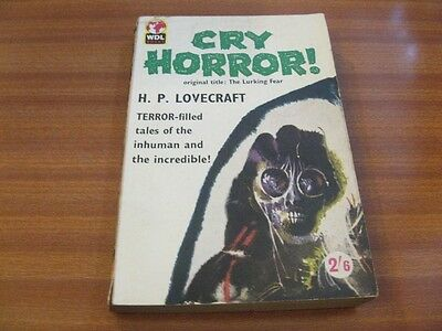 Cry Horror ! By H.p Lovecraft Vintage Paperback 1960