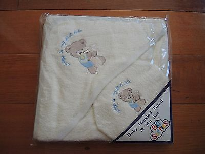 Big Softies Hooded Baby Bath towel and mit set