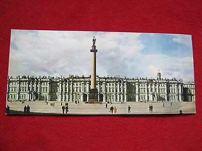"""Early Postcard ---- Palace Square . View Of The State Hermitage  14 """" X 6.5"""