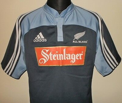 ALL BLACKS New Zealand RUGBY UNION 2005 adidas Away Shirt Jersey Maglia Maillot