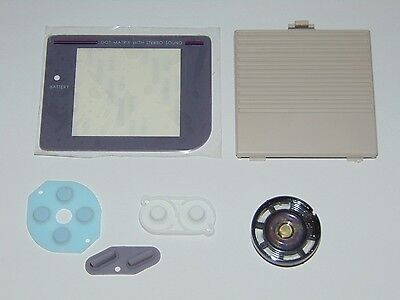 Game Boy DMG-001 GB Replacement Kit Plastic Screen lens, rubber, speaker, cover