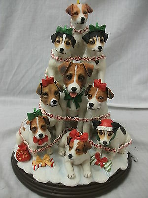 Danbury Mint - The Jack Russell Family - Christmas Tree Ornament
