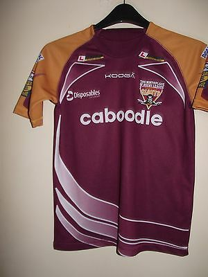 huddersfield giants caboodle l/boys rugby league shirt good cond