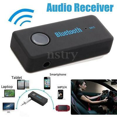 Wireless Bluetooth V4.1 3.5mm Receiver Adapter AUX Music Car Home Stereo Speaker