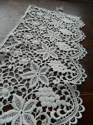 """Length of antique deep cotton edging lace.  9.5"""" deep by 116"""" long"""