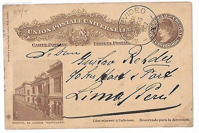 S278 1902 Uruguay *MONTEVIDEO* Postal Stationery {samwells-covers}PTS