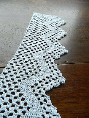 """Length of antique hand crochet edging lace.  5"""" deep by 80"""" long."""