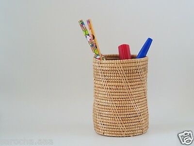 1 x Basket Weave Craft Handmade Decorate Cylinder Handmade Pencil Comb Can