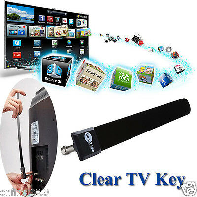 Clear TV Key HDTV TV Digital Indoor Antenna 1080p Ditch Cable As Seen on TV US