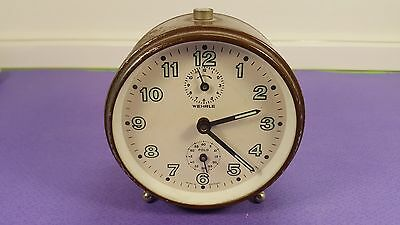 Vintage Special Wehrle Mechanical Alarm Clock  / Everything is working !