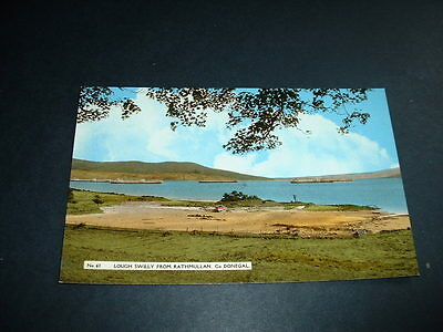 IRISH  POSTCARD LOUGH SWILLY FROM RATHMULLAN Co DONEGALL 1930s  IRELAND