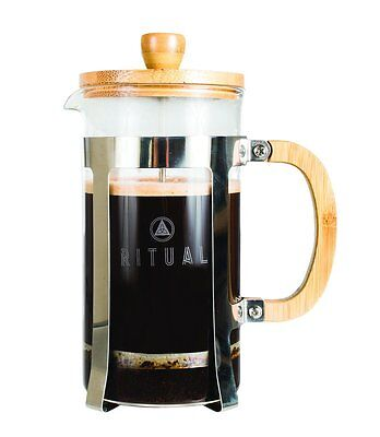 Ritual French Press Coffee Press Stainless Steel and Bamboo Design 9 cup RRP £31