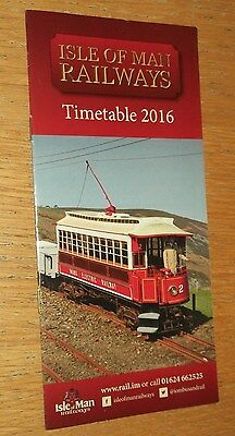 Isle of Man Rail timetables - 2016 edition timetable booklet