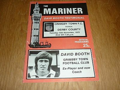 1979 - DAVE BOOTH TESTIMONIAL PROGRAMME - GRIMSBY v DERBY COUNTY