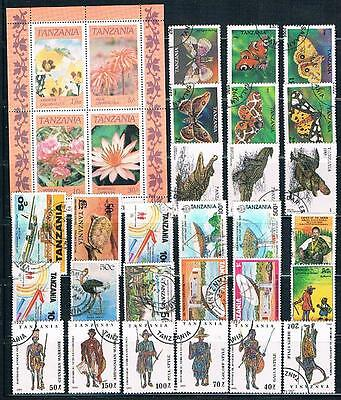 Tanzania : 1 S/sheet  And 27  Stamps