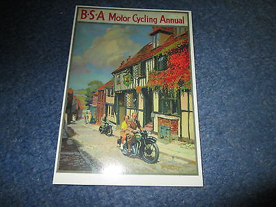 Bsa Motor Cycling In Rye Annual  Best Of British Series Postcard
