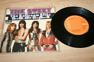 "THE SWEET THE BALLROOM BLITZ 1973 UK 7"" VINYL SINGLE (Ex) A1/B1"