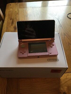 Coral Pink Nintendo 3DS Handheld Console  - Brand New