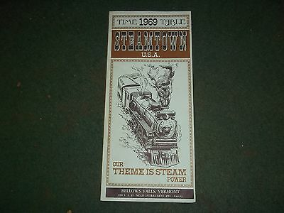 Vintage 1969 Steamtown Usa Brochure From Bellows Falls Vermont