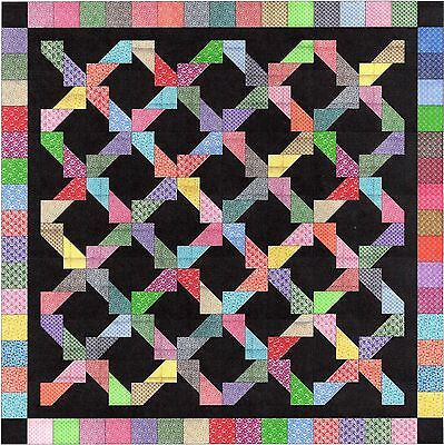Easy Quilt Kit/ Calico Chained Rectangles /Pre-cut Fabrics Ready To Sew****