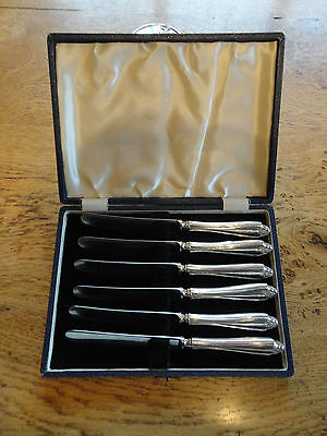 Set Of 6 Silver Butter Knives - In Original Box