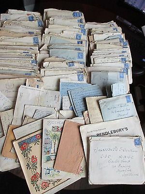 Large Collection Ww2 Letters T Bentham Standish Lancs Rasc Gailes Camp Ayrshire