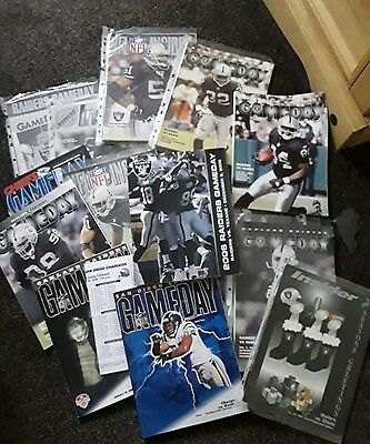 Nfl Oakland Raiders Programmes X 21 Only Being  Listed Once