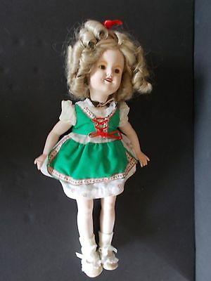 Vintage All Bisque Porcelain Shirley Temple Doll