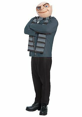 Adult Gru Costume Despicable Me 2 / 3 / Minions Fancy Dress Outfit Size Medium