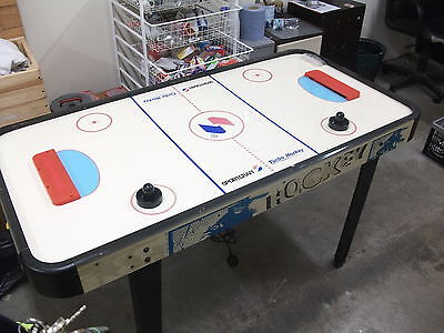 sportcraft Classic Air Hockey Table Electric Mains Powered Blue Frame
